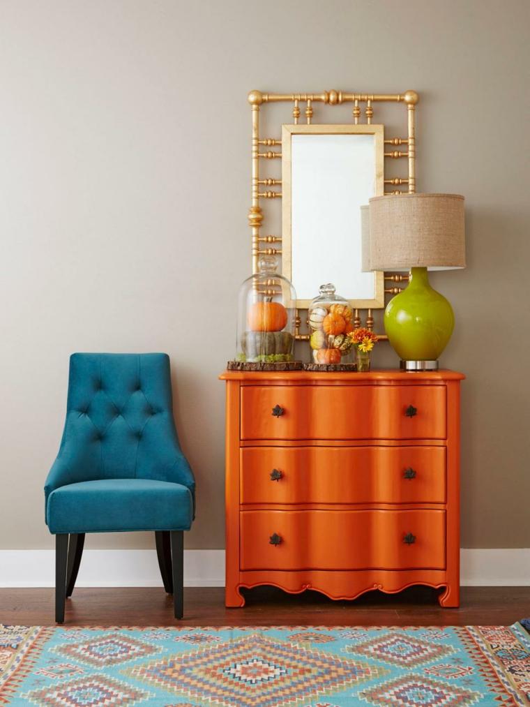 interior decorado colores otoño
