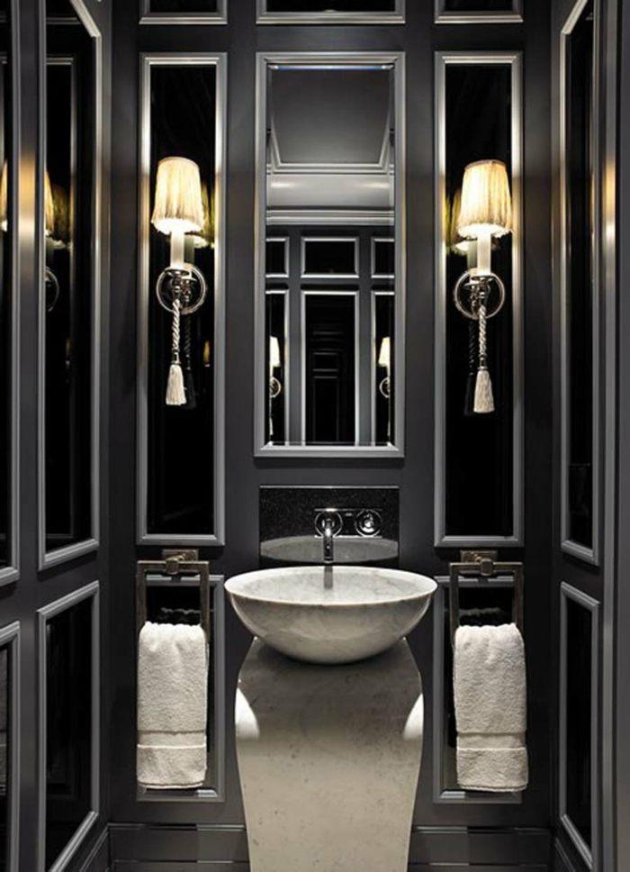 Imagenes De Baños Tradicionales:Color negro diseño elegante para baños modernos y tradicionales