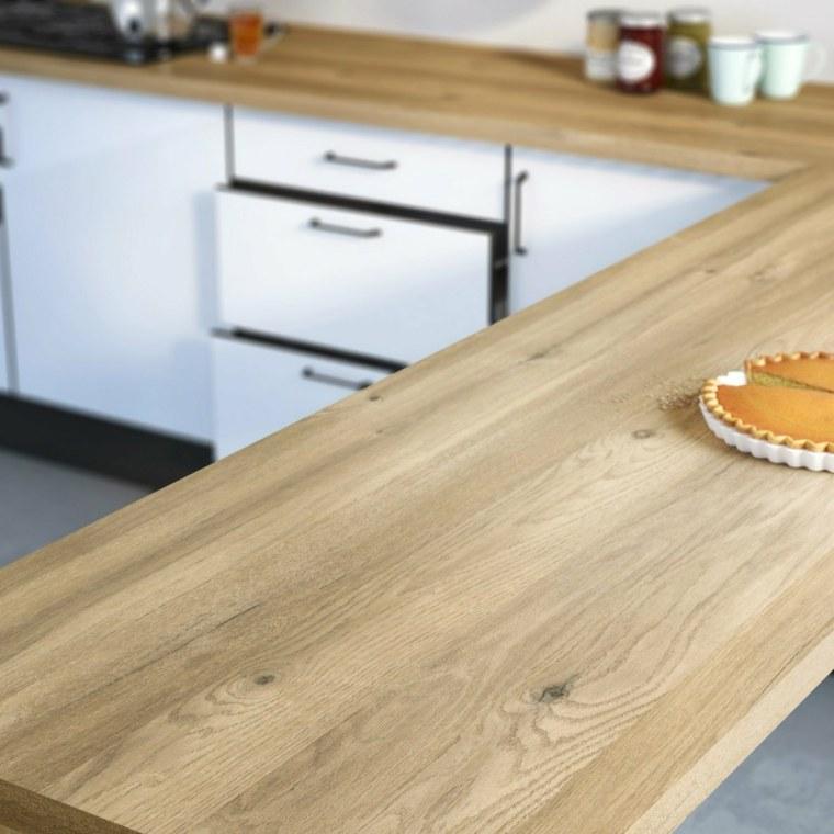 isla cocina mesa encimera laminada