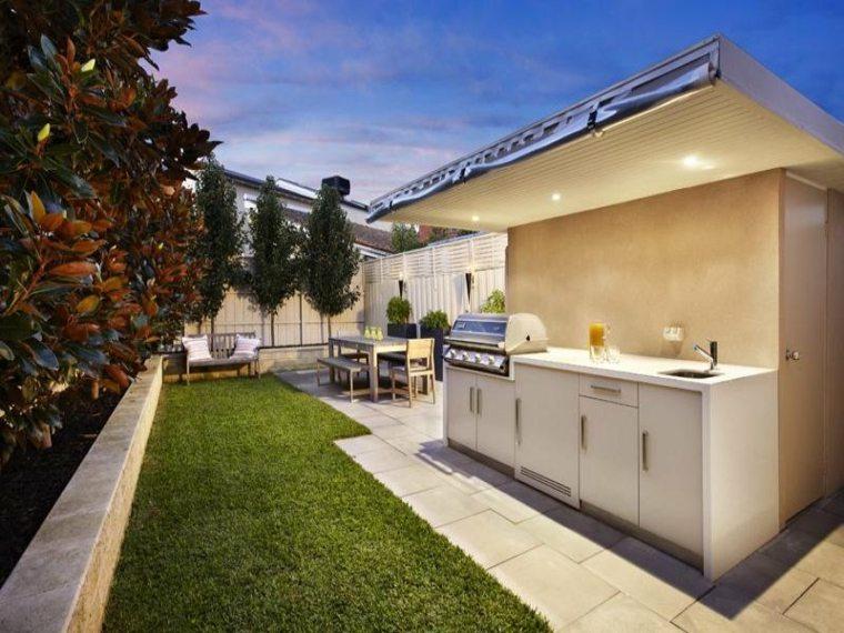 jardin moderno cocina barbacoas