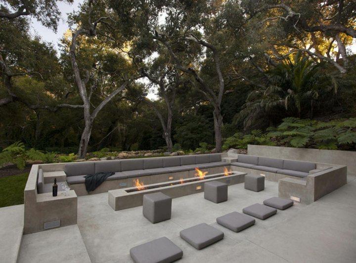 jardines fuego arboles diseños arboles
