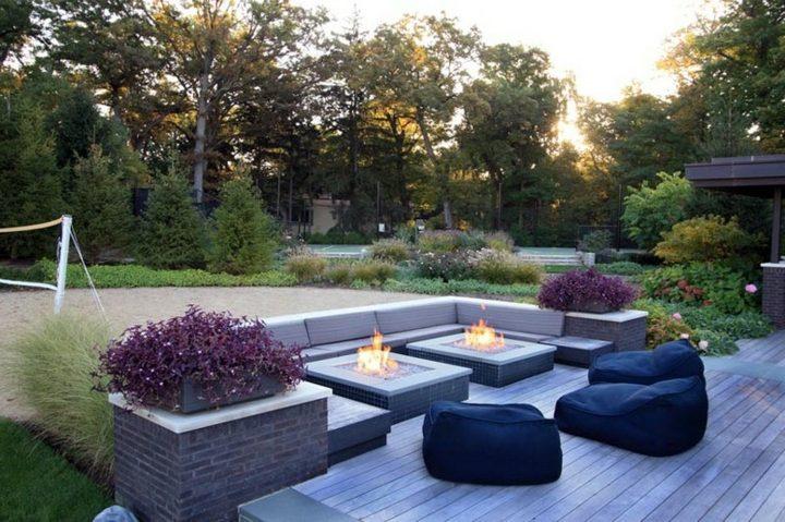 jardines fuego informal madera informales