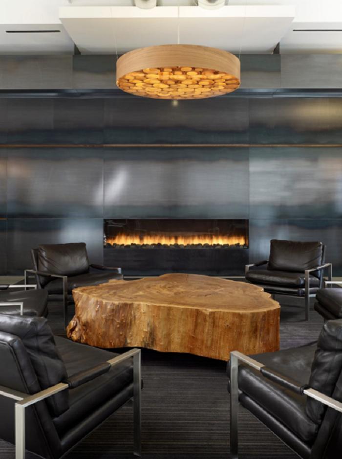la madera chimeneas tonos calaros saturnia efecto