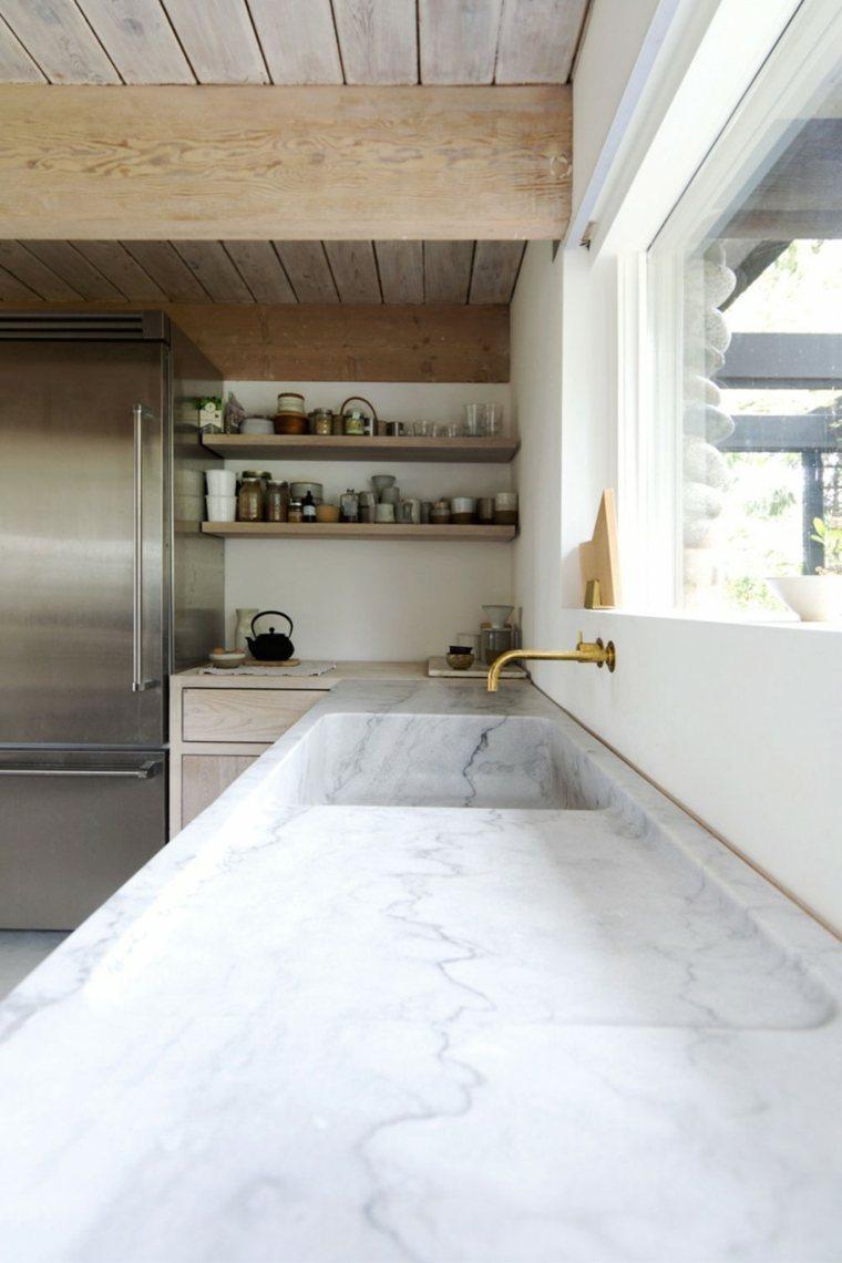 la madera diseno cocina encimera marmol Scott & Scott Architects ideas