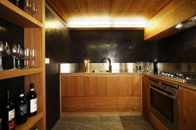 la madera diseno cocina espacio reducido diseno Studio Fanetti ideas