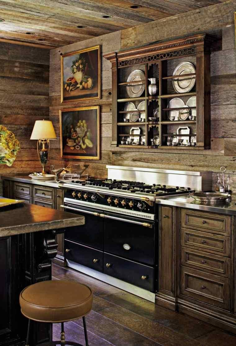 madera diseno cocina interiores diseno rustico ideas