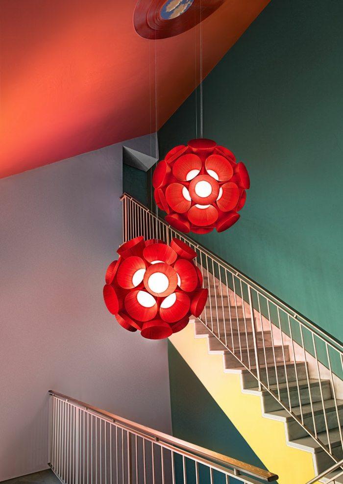 madera roja colecciones muestras escaleras
