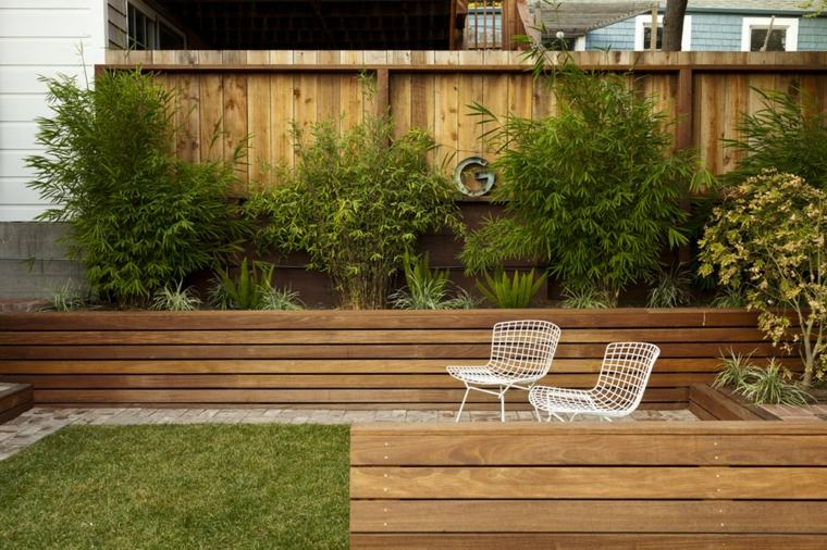 Maceteros de madera para el jardín -