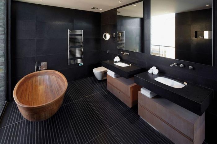 madera estilos tonos claros bañera