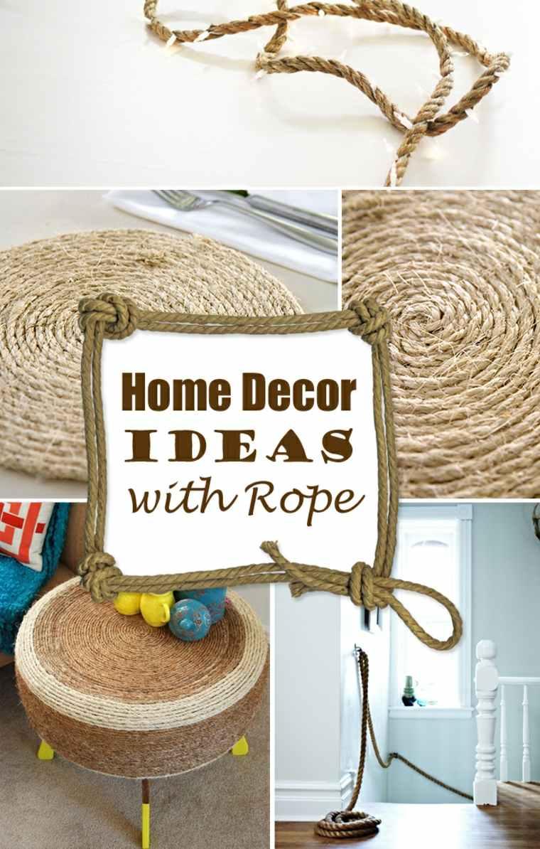 manualidades con cuerda decorativas sencillas