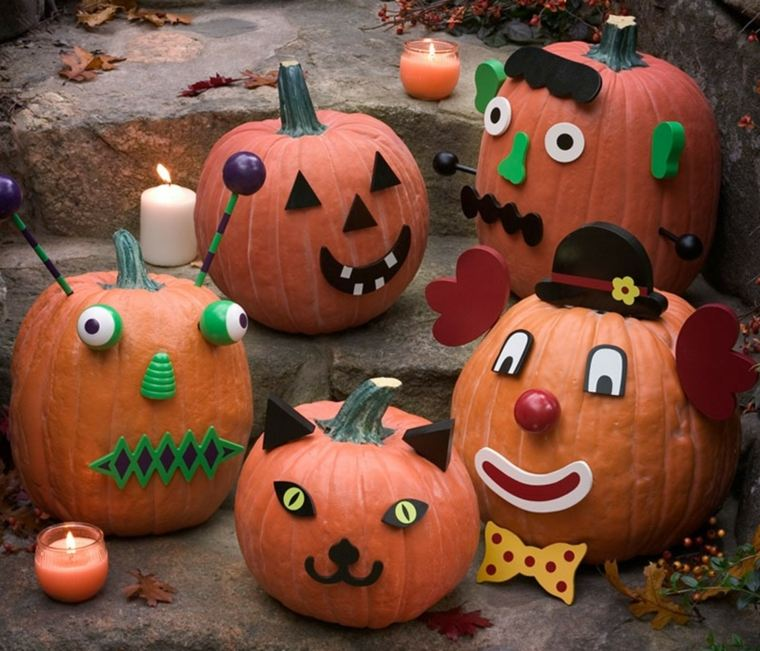 manualidades para halloween calabazas rostro