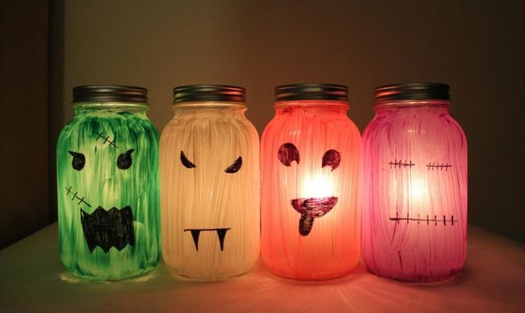 manualidades para halloween tarros cristal