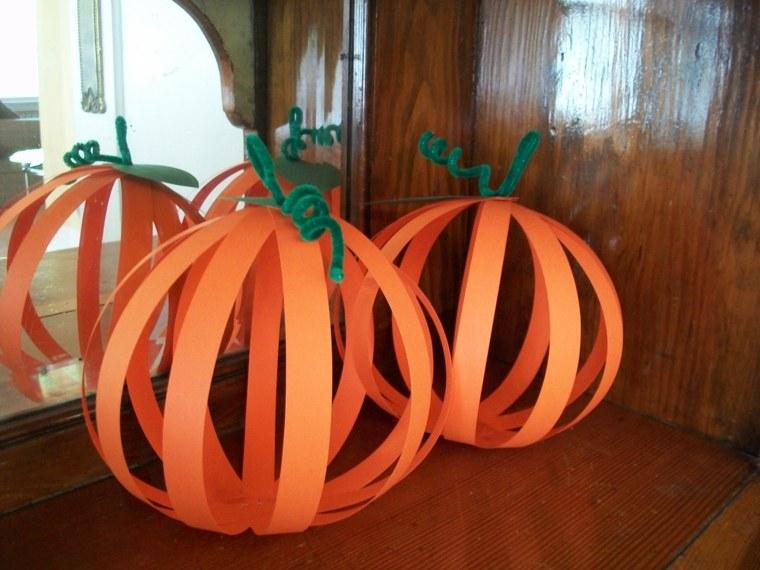 manualidades para halloween tiras naranjas