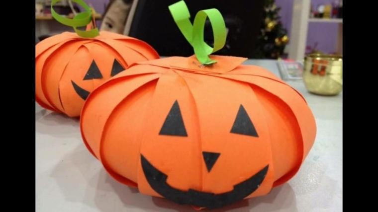 manualidades para halloween tiras papel