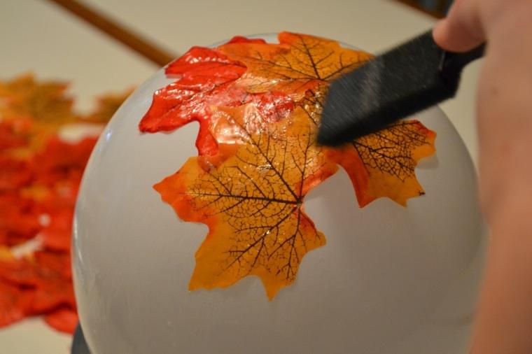 Decoración con hojas secas para el otoño -