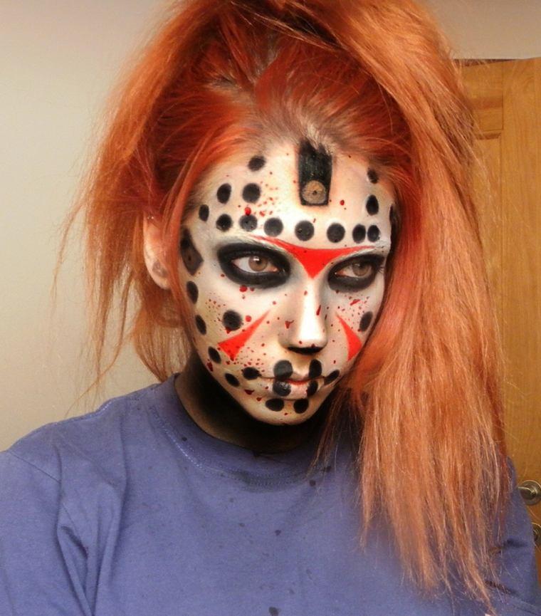 maqiullaje de halloween para niños máscara