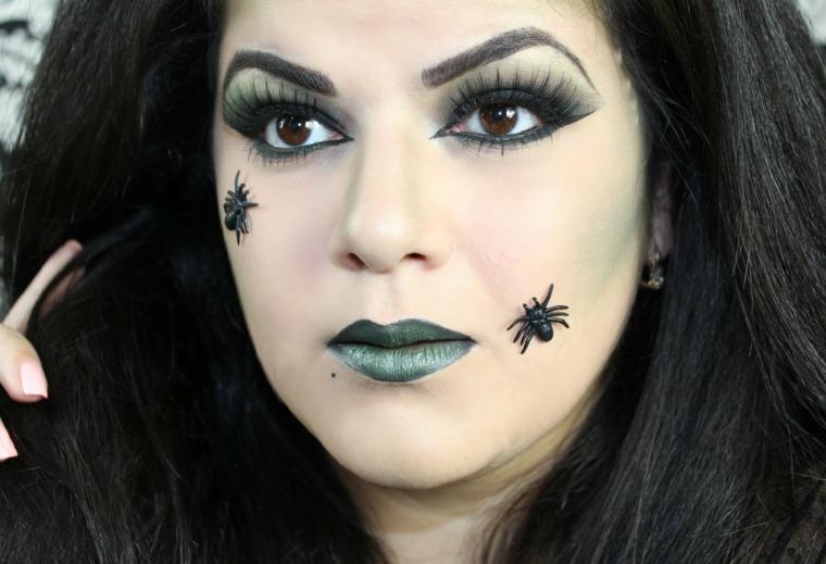 maquillaje de bruja arañas