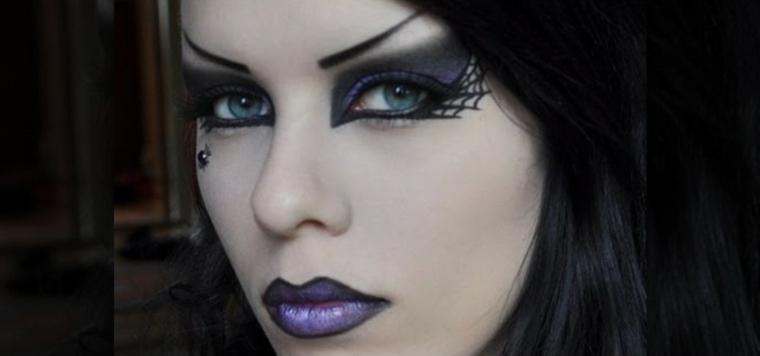 maquillaje de bruja impactante