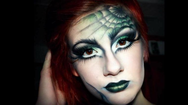 maquillaje de bruja telaraña
