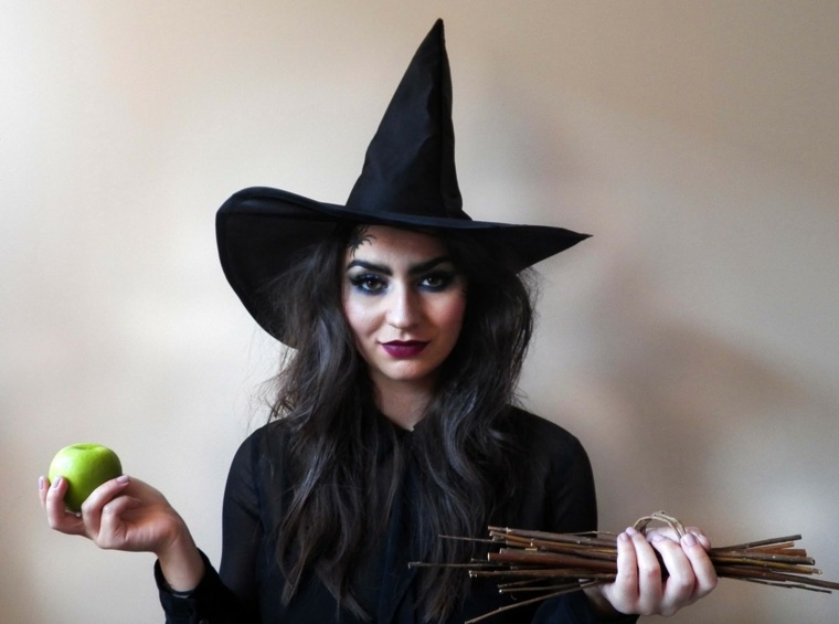 maquillaje de brujas sombrero