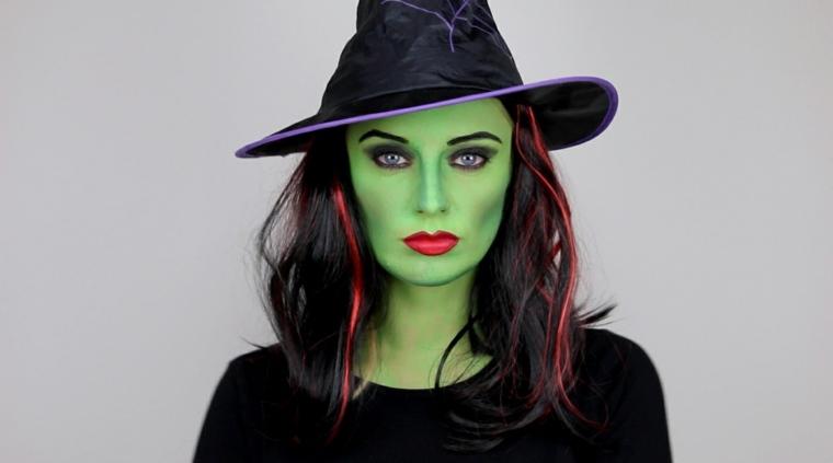 maquillaje de brujas verdes