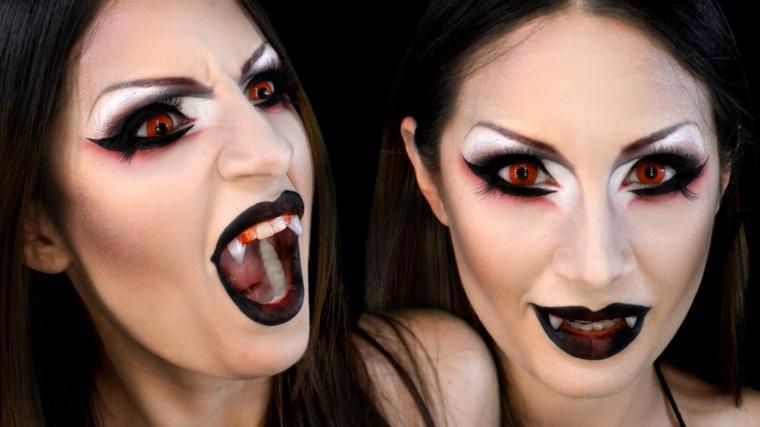 maquillaje de diablesa para mujer
