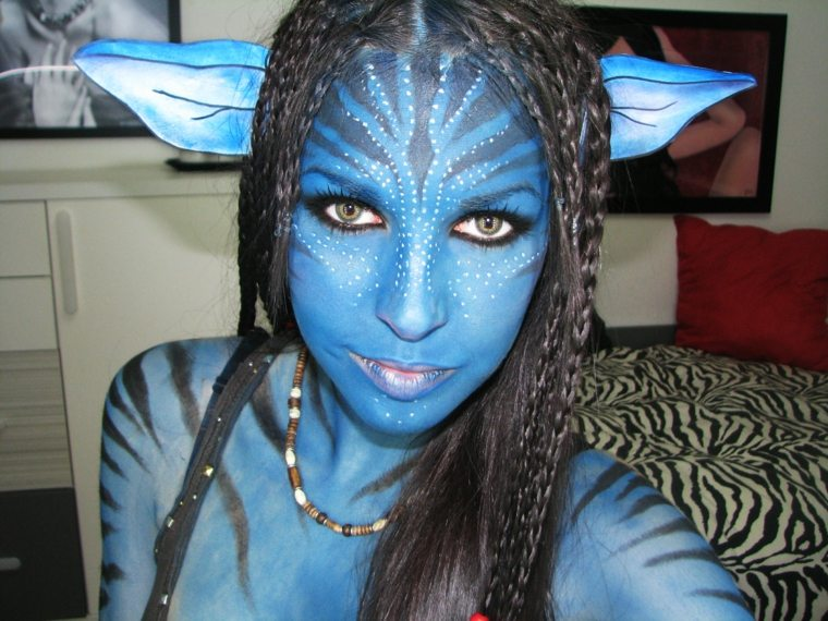 maquillaje de halloween avatar