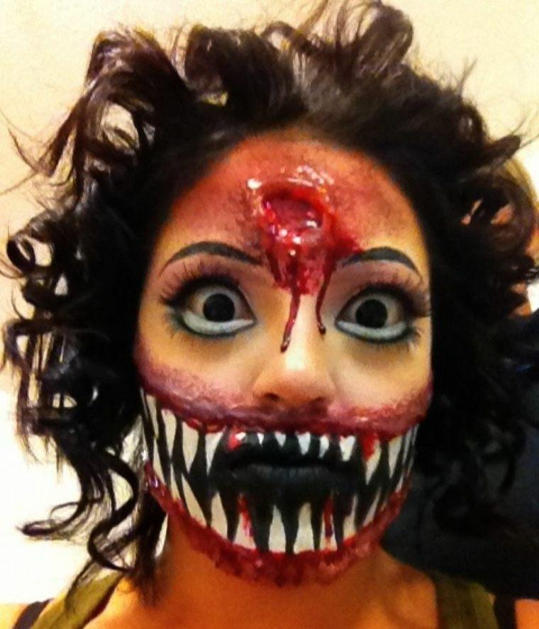 maquillaje de halloween espeluznante