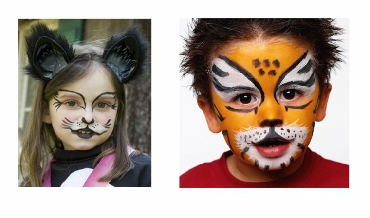 maquillaje de halloween niños niñas