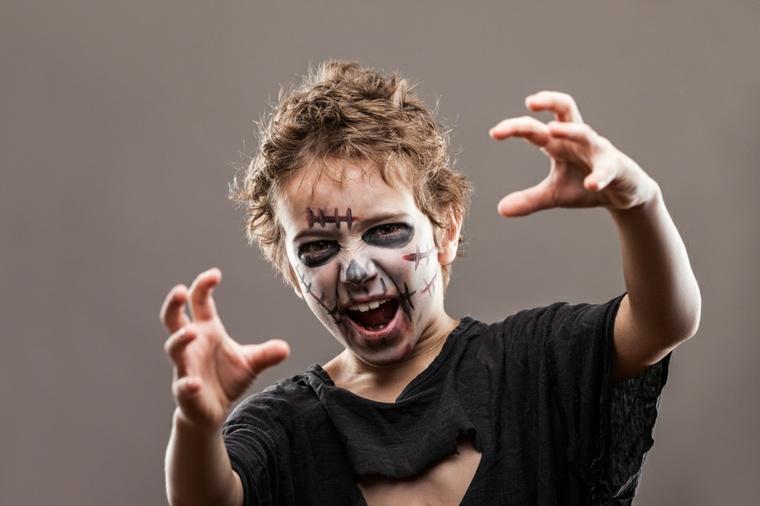 maquillaje de halloween para niños zombie