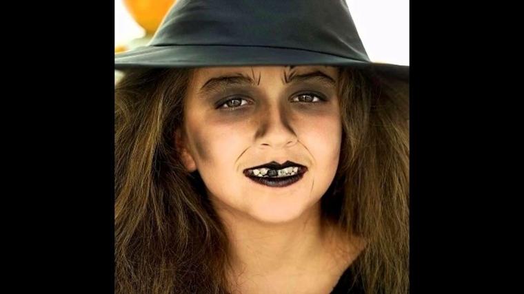 maquillaje de halloween para niños bruja
