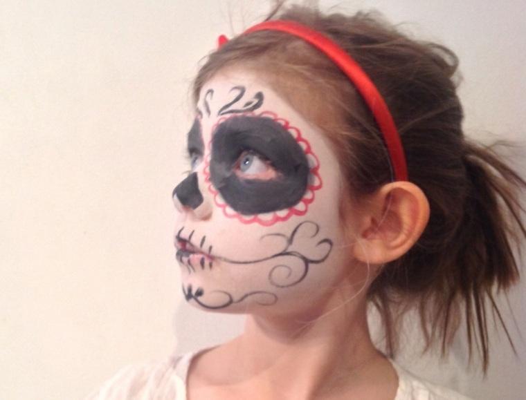 maquillaje de halloween para niños niñas