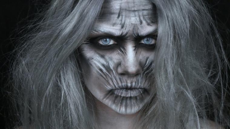 maquillaje de halloween terror