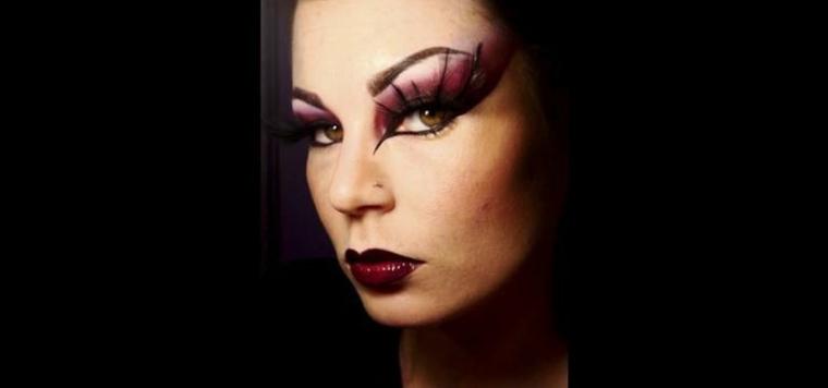 maquillaje de ojos negro halloween