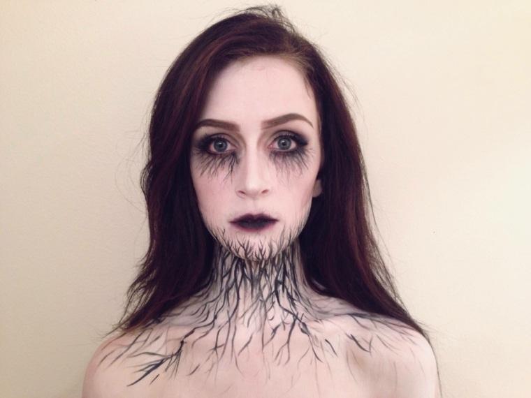 maquillaje original miedo Halloween
