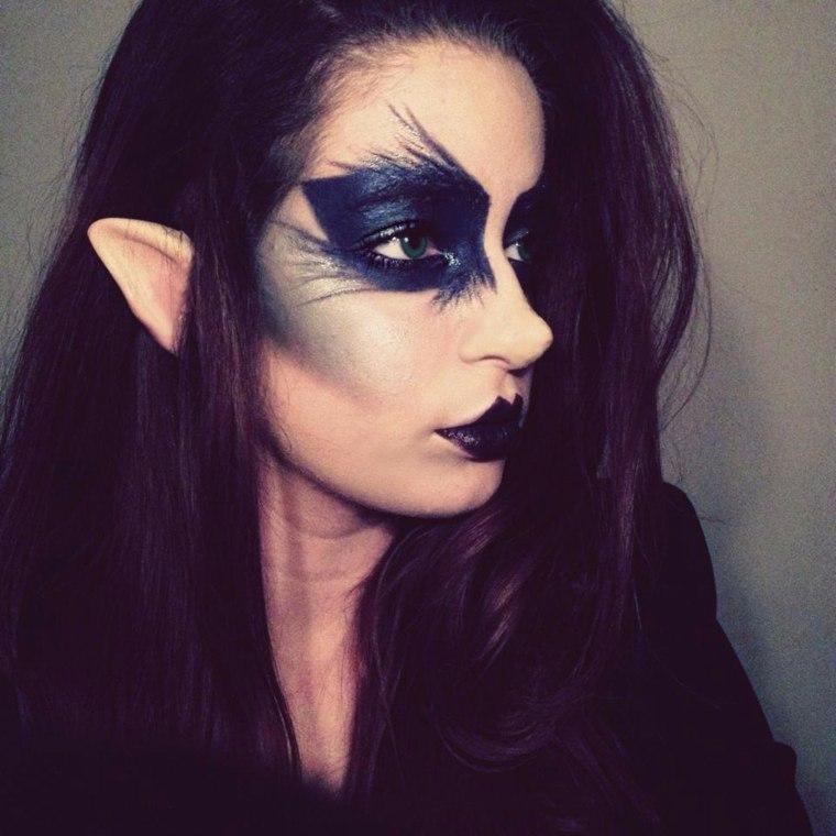 maquillaje en negro halloween