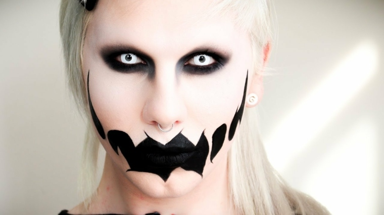 maquillaje original cara monstruo