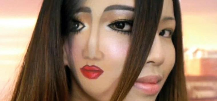 Maquillaje para halloween de miedo for Pintarse los ojos facil