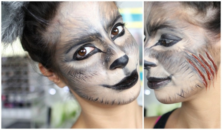 maquillaje halloween animal