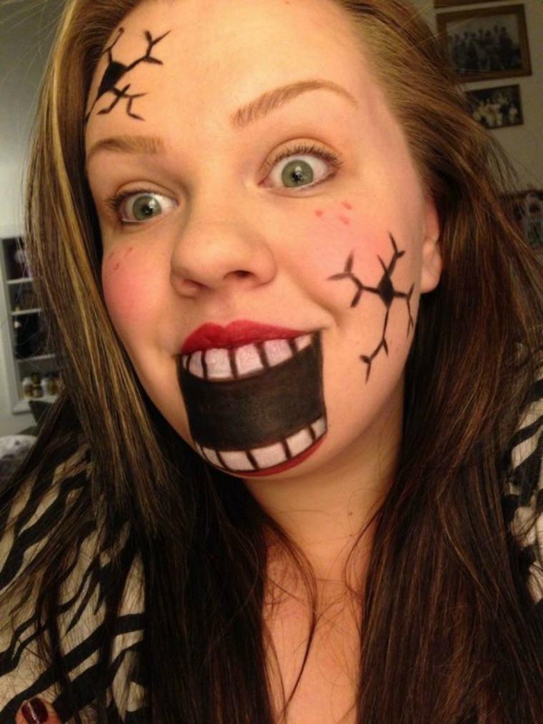 maquillaje halloween boca