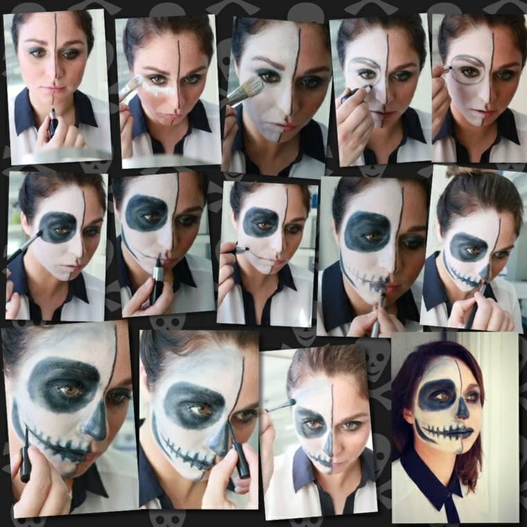 maquillaje halloween esqueleto