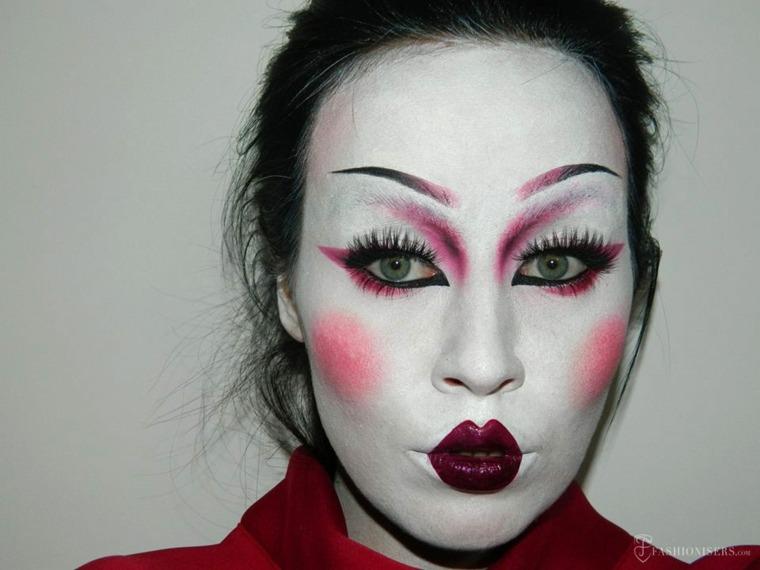 maquillaje halloween geisha