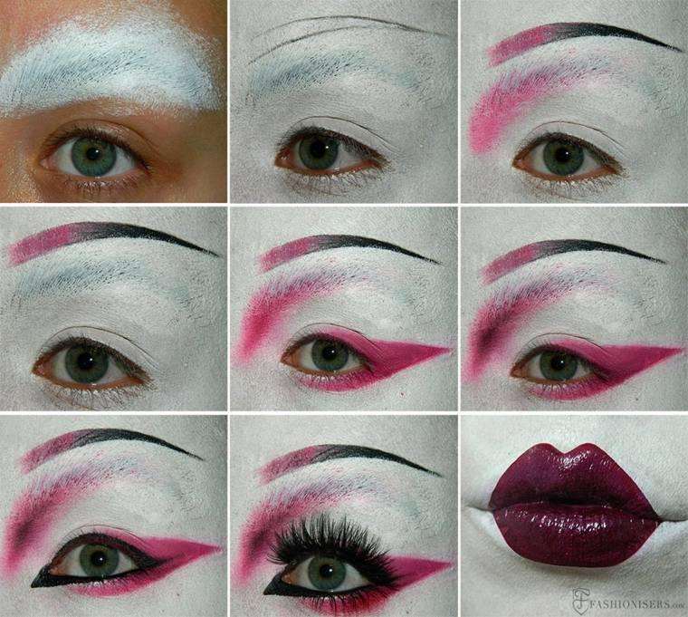 maquillaje halloween instrucciones geisha