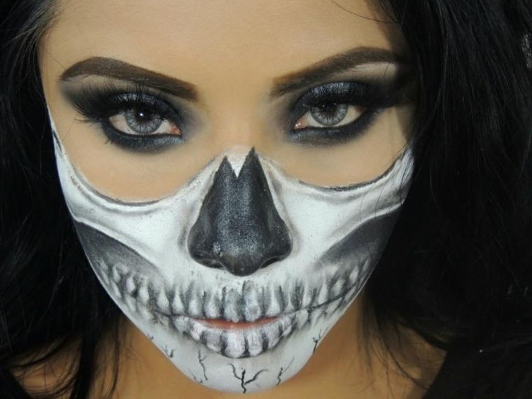 Maquillaje halloween hacerlo paso a paso for Pinturas de cara para halloween