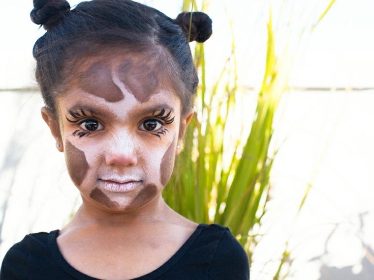 maquillaje infantil animal