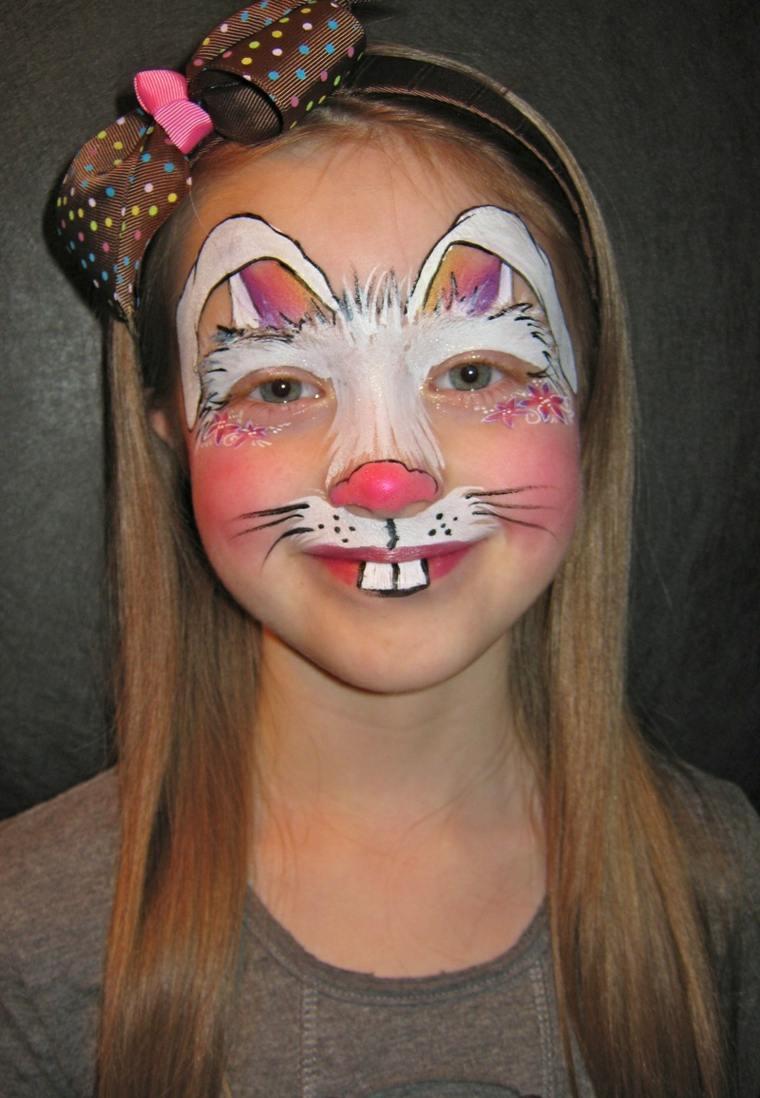 maquillaje infantil conejo