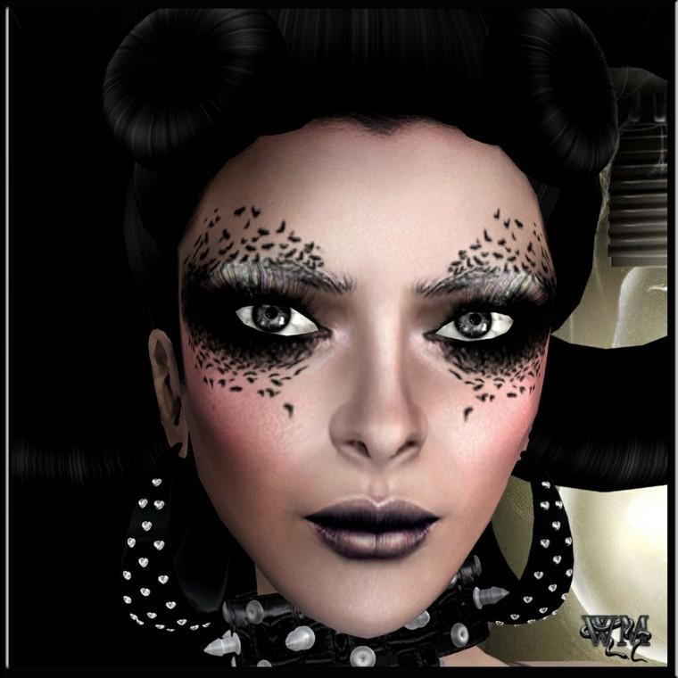 maquillaje negro halloween