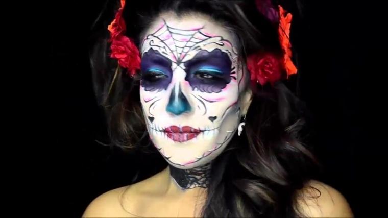 maquillaje para halloween circulos