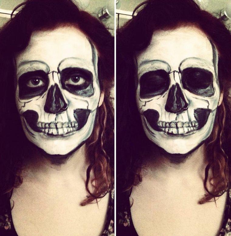 maquillaje para halloween dientes