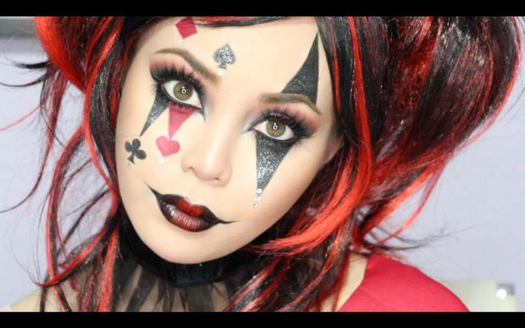 maquillaje para halloween harley quinn